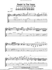 Cover icon of Reelin' In The Years sheet music for guitar (tablature) by Steely Dan, Donald Fagen and Walter Becker, intermediate skill level