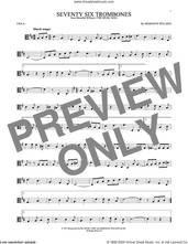 Cover icon of Seventy Six Trombones sheet music for viola solo by Meredith Willson, intermediate skill level