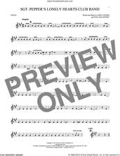 Cover icon of Sgt. Pepper's Lonely Hearts Club Band sheet music for violin solo by The Beatles, John Lennon and Paul McCartney, intermediate skill level