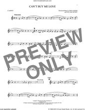 Cover icon of Can't Buy Me Love sheet music for clarinet solo by The Beatles, John Lennon and Paul McCartney, intermediate skill level