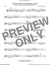 Cover icon of Theme From Schindler's List sheet music for flute solo by John Williams, intermediate skill level