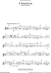 Cover icon of Romeo And Juliet (Love Theme) sheet music for flute solo by Nino Rota, intermediate skill level