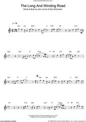 Cover icon of The Long And Winding Road sheet music for clarinet solo by The Beatles, Paul McCartney and John Lennon, intermediate skill level