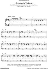Cover icon of Somebody To Love sheet music for voice, piano or guitar by Justin Bieber, Heather Bright, Jeremy Reeves, Jonathan Yip and Ray Romulus, intermediate skill level