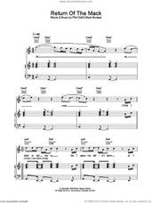 Cover icon of Return Of The Mack sheet music for voice, piano or guitar by Mark Morrison and Phil Chill, intermediate skill level