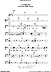 Cover icon of Cloudburst sheet music for voice and other instruments (fake book) by Oasis and Noel Gallagher, intermediate skill level