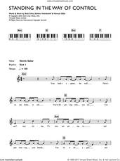 Cover icon of Standing In The Way Of Control sheet music for piano solo (chords, lyrics, melody) by Gossip, Beth Ditto, Hannah Blilie and Nathan Howdeshell, intermediate piano (chords, lyrics, melody)