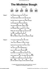 Cover icon of The Mistletoe Bough sheet music for guitar (chords), intermediate skill level