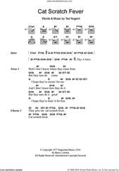 Cover icon of Cat Scratch Fever sheet music for guitar (chords) by Ted Nugent, intermediate skill level