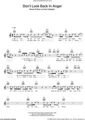 Cover icon of Don't Look Back In Anger sheet music for voice and other instruments (fake book) by Oasis and Noel Gallagher, intermediate skill level