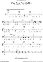 Cover icon of If You Could Read My Mind sheet music for voice and other instruments (fake book) by Gordon Lightfoot, intermediate skill level