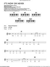 Cover icon of It's Now Or Never sheet music for piano solo (chords, lyrics, melody) by Elvis Presley, Aaron Schroeder, Eduardo Di Capua and Wally Gold, intermediate piano (chords, lyrics, melody)
