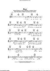 Cover icon of Run sheet music for voice and other instruments (fake book) by Snow Patrol, Leona Lewis, Gary Lightbody, Iain Archer, Jonathan Quinn, Mark McClelland and Nathan Connolly, intermediate skill level