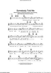 Cover icon of Somebody Told Me sheet music for voice and other instruments (fake book) by The Killers, Brandon Flowers, Dave Keuning, Mark Stoermer and Ronnie Vannucci, intermediate skill level