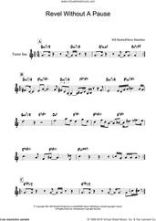 Cover icon of Revel Without A Pause sheet music for tenor saxophone solo by Bill Bruford and Steve Hamilton, intermediate skill level