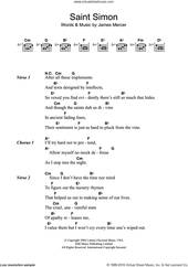 Cover icon of Saint Simon sheet music for guitar (chords) by The Shins and James Mercer, intermediate skill level