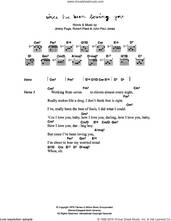 Cover icon of Since I've Been Loving You sheet music for guitar (chords) by Corinne Bailey Rae, Jimmy Page, John Paul Jones and Robert Plant, intermediate skill level