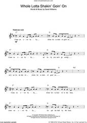 Cover icon of Whole Lotta Shakin' sheet music for voice and other instruments (fake book) by Dave Williams, intermediate skill level