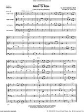 Cover icon of Bach For Brass (COMPLETE) sheet music for brass quartet by Johann Sebastian Bach and David Uber, classical score, intermediate skill level