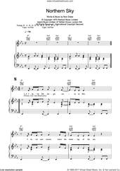 Cover icon of Northern Sky sheet music for voice, piano or guitar by Nick Drake, intermediate skill level