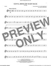 Cover icon of Santa, Bring My Baby Back (To Me) sheet music for violin solo by Elvis Presley, Aaron Schroeder and Claude DeMetruis, intermediate skill level