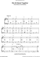 Cover icon of We All Stand Together sheet music for piano solo by Paul McCartney, easy skill level