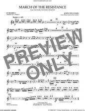 Cover icon of March of the Resistance (from Star Wars: The Force Awakens) - Bb Trumpet Parts (complete set of parts) sheet music for concert band (Trumpet) by John Williams and Paul Lavender, classical score, intermediate skill level