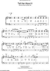 Cover icon of Tell Her About It sheet music for voice and piano by Billy Joel, intermediate skill level