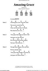Cover icon of Amazing Grace sheet music for banjo solo (lyrics,chords) by John Newton and Miscellaneous, intermediate banjo (lyrics,chords)