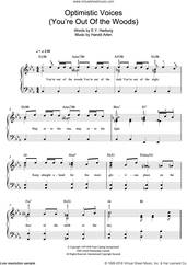 Cover icon of Optimistic Voices sheet music for piano solo by Harold Arlen and E.Y. Harburg, easy skill level