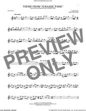 Cover icon of Theme From Jurassic Park sheet music for alto saxophone solo by John Williams, intermediate skill level