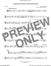 Cover icon of Listen To What The Man Said sheet music for clarinet solo by Wings, Linda McCartney and Paul McCartney, intermediate skill level