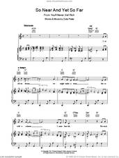 Cover icon of So Near And Yet So Far sheet music for voice, piano or guitar by Cole Porter, intermediate skill level