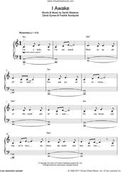 Cover icon of I Awake sheet music for piano solo (beginners) by Sarah Blasko, David Symes, Fredrik Rundqvist and Sarah Blaskow, beginner piano (beginners)
