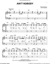 Cover icon of Ain't Nobody sheet music for piano solo by Chaka Khan and David Wolinski, easy skill level