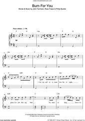 Cover icon of Burn For You sheet music for piano solo by John Farnham, easy skill level