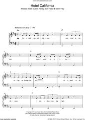 Cover icon of Hotel California sheet music for piano solo (beginners) by The Eagles, beginner piano (beginners)