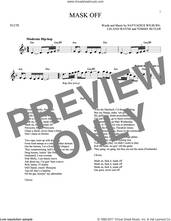 Cover icon of Mask Off sheet music for flute solo by Future, Leland Wayne, Nayvadius Wilburn and Tommy Butler, intermediate skill level