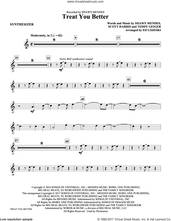 Cover icon of Treat You Better (complete set of parts) sheet music for orchestra/band by Ed Lojeski, Scott Harris, Shawn Mendes and Teddy Geiger, intermediate skill level
