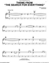 Cover icon of Theme From The Search For Everything sheet music for voice, piano or guitar by John Mayer, intermediate skill level
