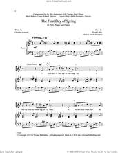 Cover icon of The First Day of Spring sheet music for choir (2-Part) by Christina Rossetti and Keith Loftis, intermediate duet