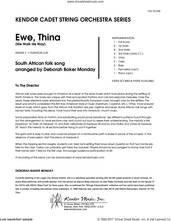 Cover icon of Ewe, Thina (We Walk His Way) (COMPLETE) sheet music for orchestra by Deborah Baker Monday and South African folk song, intermediate skill level