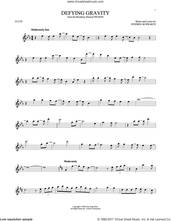 Cover icon of Defying Gravity (from Wicked) sheet music for flute solo by Stephen Schwartz, intermediate skill level