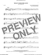 Cover icon of What I Did For Love sheet music for flute solo by Marvin Hamlisch and Edward Kleban, intermediate skill level