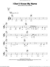 Cover icon of I Don't Know My Name sheet music for ukulele by Grace VanderWaal, intermediate skill level