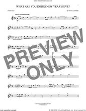 Cover icon of What Are You Doing New Year's Eve? sheet music for tenor saxophone solo by Frank Loesser, intermediate skill level