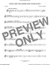 Cover icon of What Are You Doing New Year's Eve? sheet music for clarinet solo by Frank Loesser, intermediate skill level
