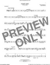 Cover icon of I Got You (I Feel Good) sheet music for trombone solo by James Brown, intermediate skill level