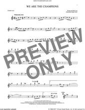 Cover icon of We Are The Champions sheet music for tenor saxophone solo by Queen and Freddie Mercury, intermediate skill level