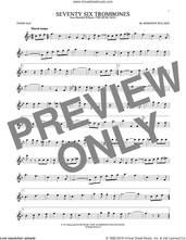 Cover icon of Seventy Six Trombones sheet music for tenor saxophone solo by Meredith Willson, intermediate skill level
